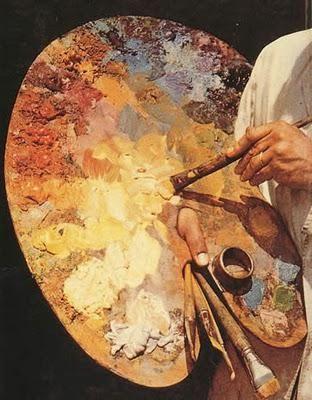 Те самые масляные краски, покорившие душу художника