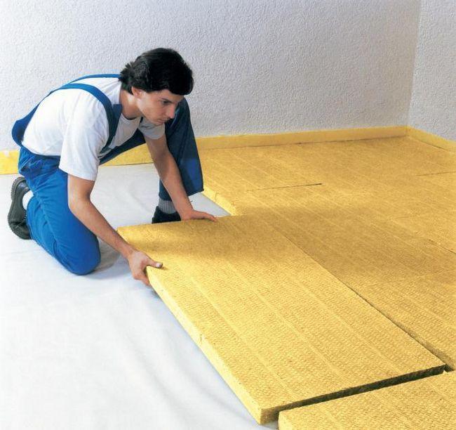 izolație termică pentru podea