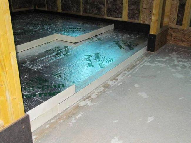 izolație termică pentru podele din lemn