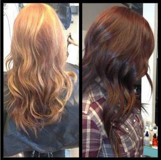 tonarea părului înainte și după