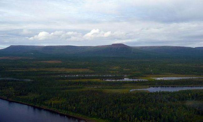 Sursa și gura râului Tunguska