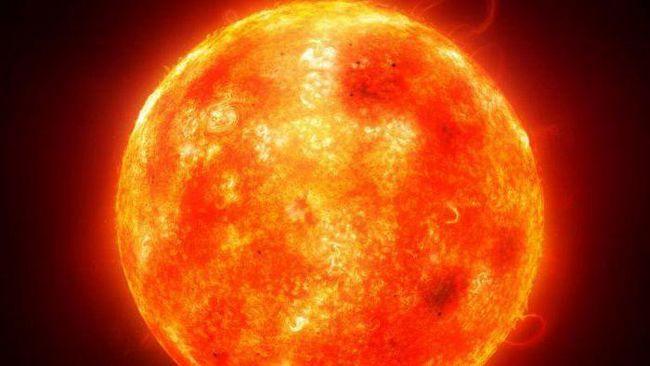 sensul lexical al cuvântului soare