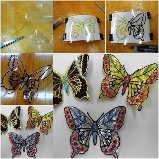 decoratiuni din sticle de plastic