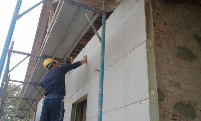 încălzitor pentru fațada pereților