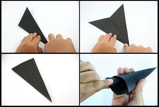cum se face shuriken din hârtie