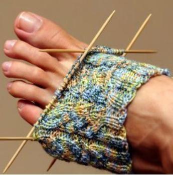 tricotat șosete cu ace de tricotat pentru începători