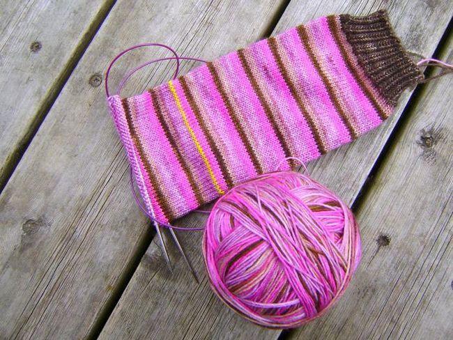 tricotat șosete pentru începători