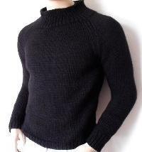 Raglan de tricotat: pulover de lână pentru bărbați