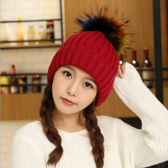 pălărie cu ace de tricotat