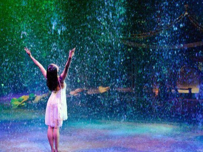 într-un vis a căzut sub ploaie