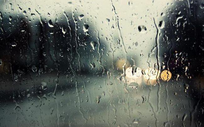 carte de vis în ploaie