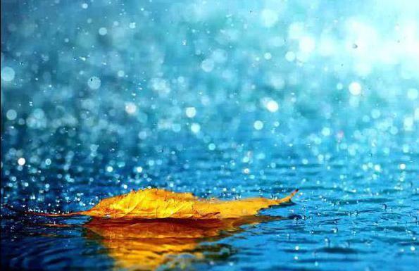 să visezi de a cădea sub ploaie