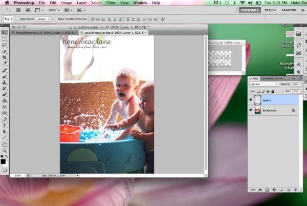 Photoshop cum să atragă un filigran