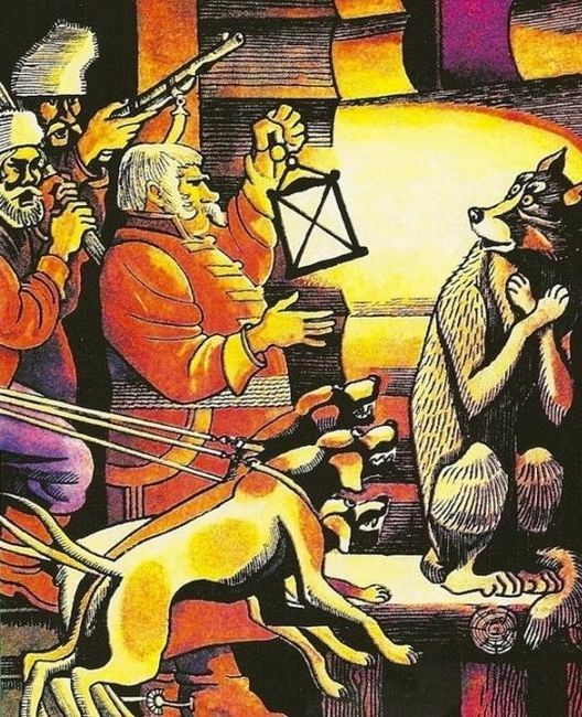 мораль басни волк на псарне
