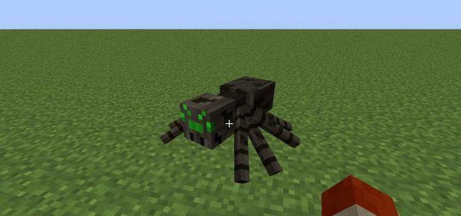 как приручить паука в майнкрафт