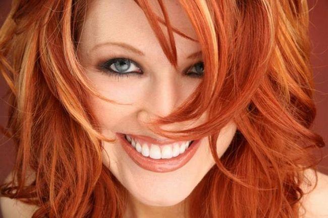 tonuri roșii de păr
