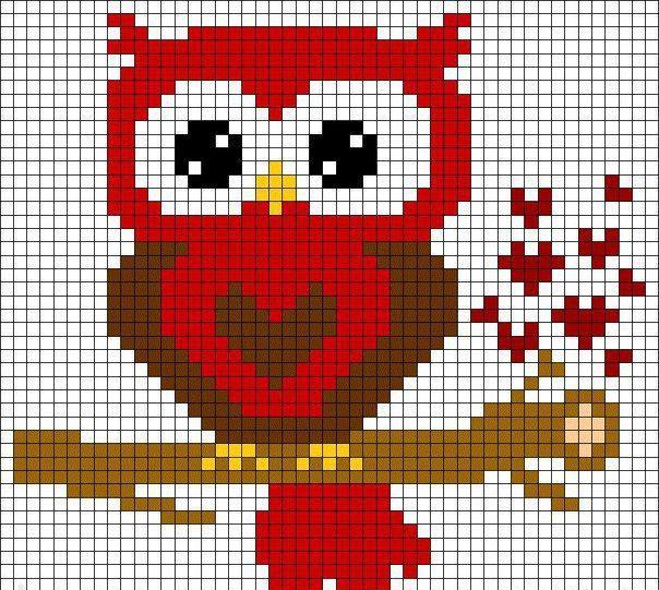 Owl pe o broderie ramură cu noduri franceze