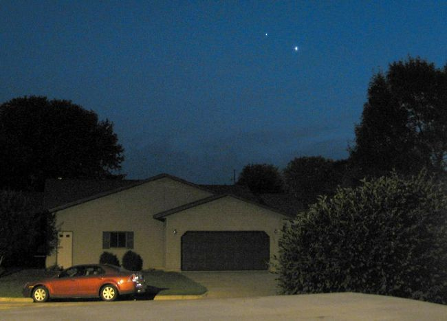 Venus în cerul de seară