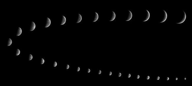 fotografii ale fazelor lui Venus