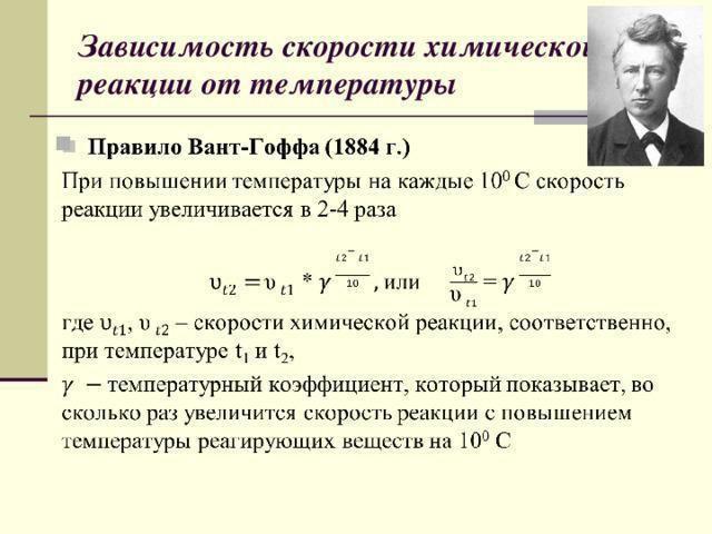 dependența ratei de reacție la temperatură