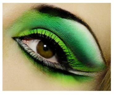 machiaj ochi cu umbre verzi