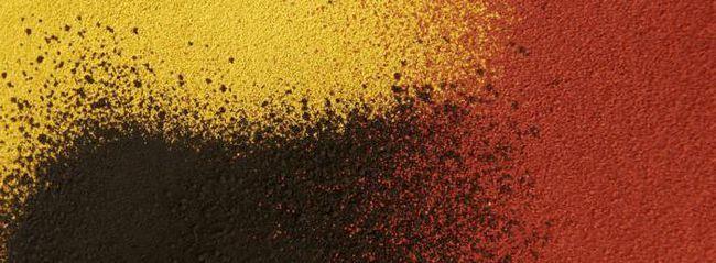 pigmenți de oxid de fier