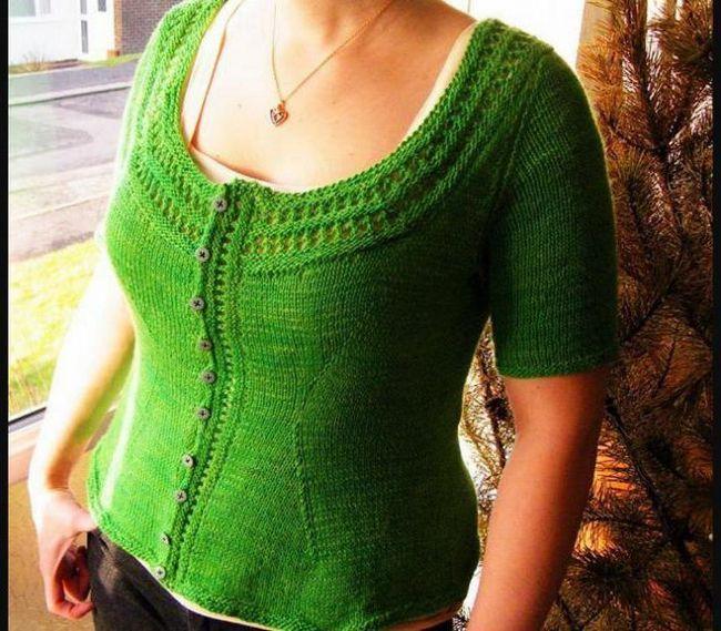 variante de cardigan cu ace de tricotat