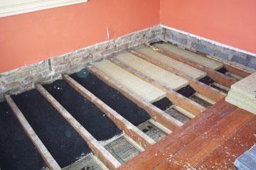 izolarea fonică a podelei