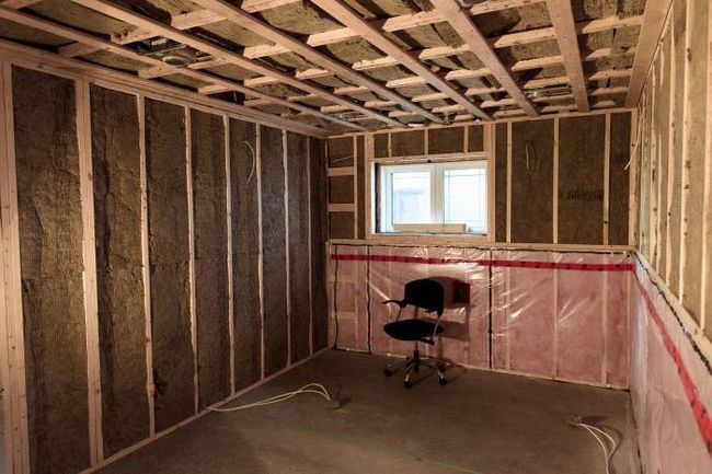 izolație fonică tavan în apartament sub materiale plafonul suspendat
